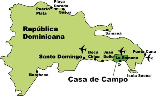 Casa de Campo - Las Rosas Blancas - Mar Y Golf Casa De Campo Dominican Republic Map on